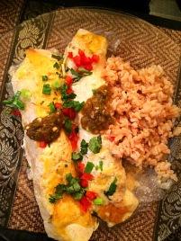 American Style Shredded Chicken Enchiladas with White Cream Sauce